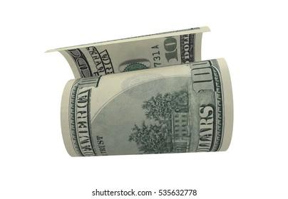Dollar, Paper Money, American Banknote, Flying Money, 3D Render