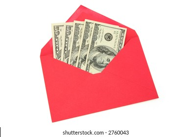dollar and red envelope, business concept