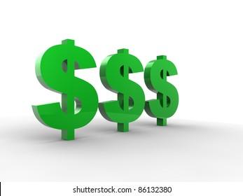 Dollar sign 3d