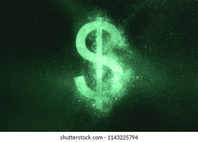 Dollar sign, Dollar Symbol. Green symbol