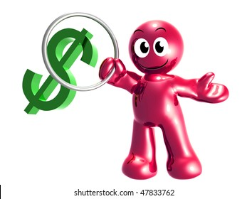 Dollar symbol circus 3d icon