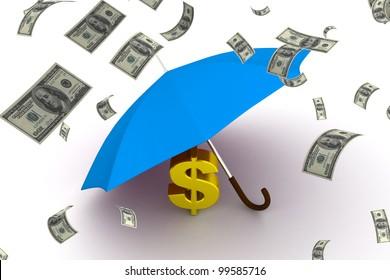 Dollar under the umbrella of, 3D