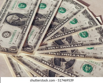 Dollar (USD) banknotes, currency of United States (USA)