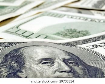 Dollars background.