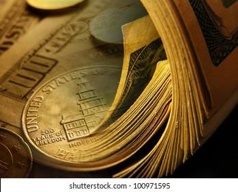 Dollars background. Finance concept.