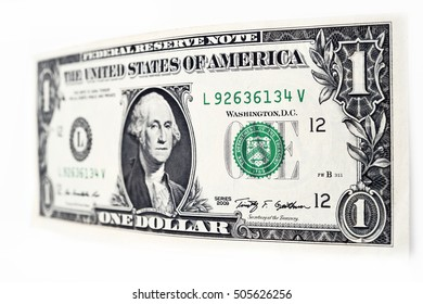 Dollars bill isolated on white background