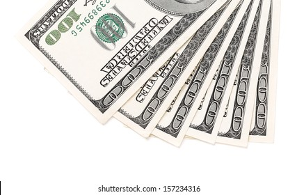 Dollars bills isolated on white a background