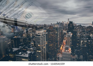 dollars and buildings