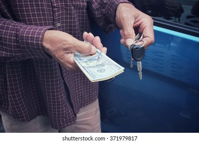 Dollars with car