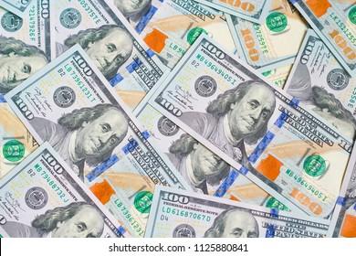 lot of dollars close up
