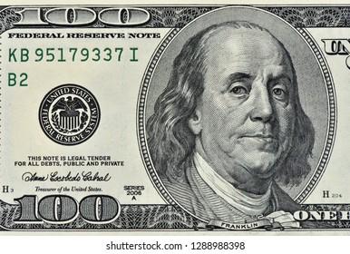Dollars Closeup Concept.