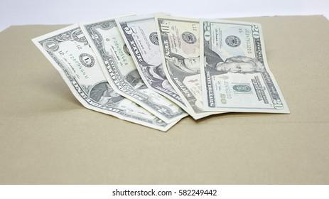 dollars of different denominations