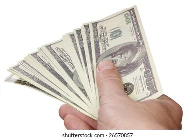 Dollars end hand