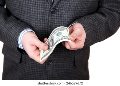 Dollars in a hands