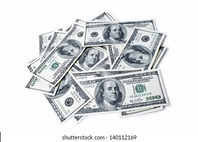 dollars isolated on white