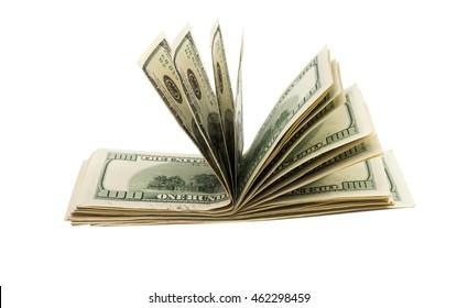 Dollars isolated on white background