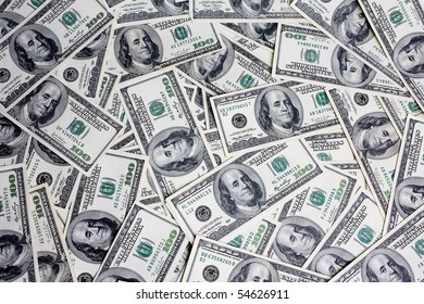 dollars isolated on white close up look