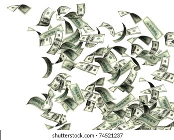Dollars. Isolated over white