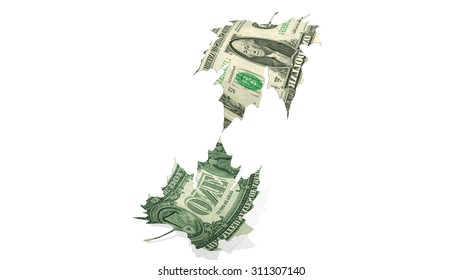 dollars, leaves, god finger