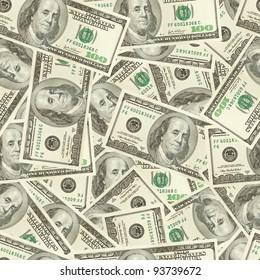 Dollars money seamless tileable background texture