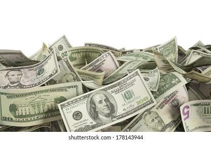 Dollars on the ground