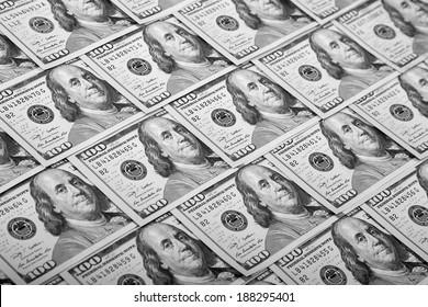 Dollars Photography: Macro of US One Hundred Dollar