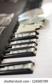 dollars and piano