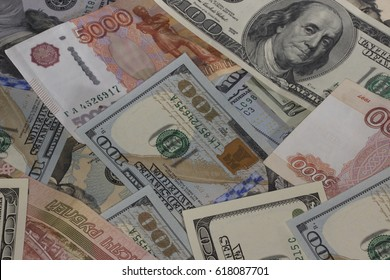 dollars and roubles background