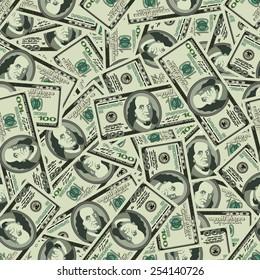 Dollars seamless background