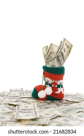 dollars in the sock symbol present