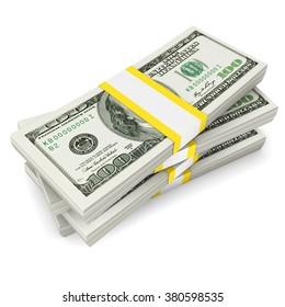Dollars stack