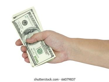 dollars white background