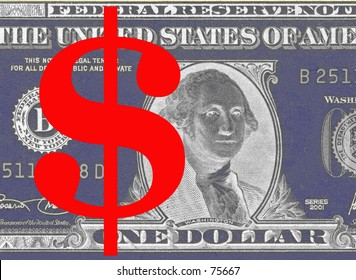 Dollarsign on dollarnote