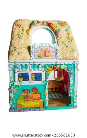 Dollhouse Little Shop On White Background Stock Photo Edit Now