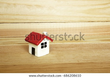 Dollhouse On Background Tree Stock Photo Edit Now 686208610