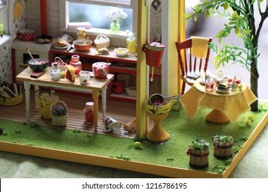 dollhouse roombox interior miniature art handmade minihome house design