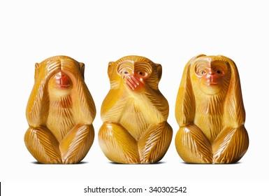 dolls of three wise monkeys