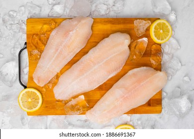 Dolly fish raw meat and fish steak and fresh dolly fish background