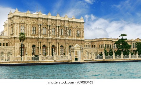 Dolmabahce Palace from Bosphorus river in Istanbul, Turkey