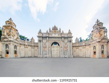 Dolmabahce Palace at Istanbul Turkey - architecture background