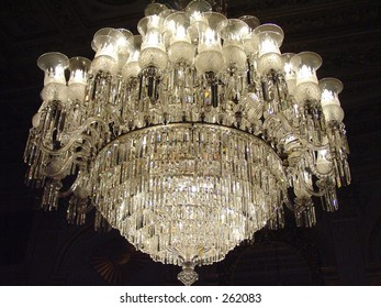 Dolmabahce Palace, Istanbul, Turkey, Crystal Chandelier