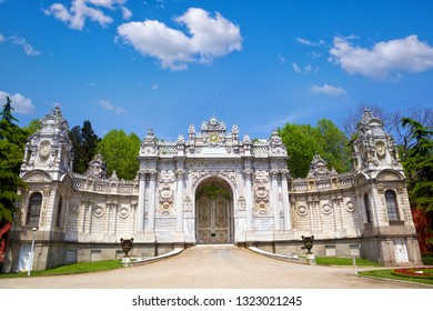 Dolmabahce Palace Treasury Gate in Istanbul, Turkey