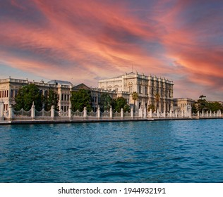 Dolmabahce palace, view from Bosporus, Istanbul, Turkey. Russian tourism center. - Shutterstock ID 1944932191