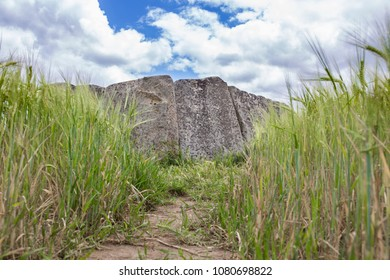 Dolmen of Magacela Ancient magalithic building near Don Benito, Extremadura. Spain