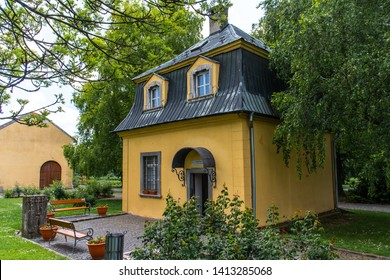 Dolna Krupa, Slovakia - 06/01/2019: Beethoven's Pavilion. Exhibition of the Music Museum that captures the life and works of Ludwig van Beethoven. Beethoven lives here in early years of 19th century.