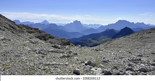 Dolomite alps; South Tyrol; Italy; Sella group;