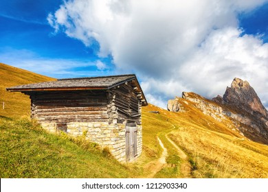 Dolomite mountains in autumn time