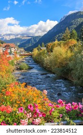 Dolomite region of the Italian Alps.