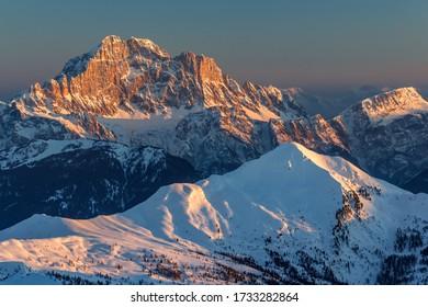 Dolomite sunset from the Lagazuoi refuge