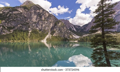 dolomites baraies lake